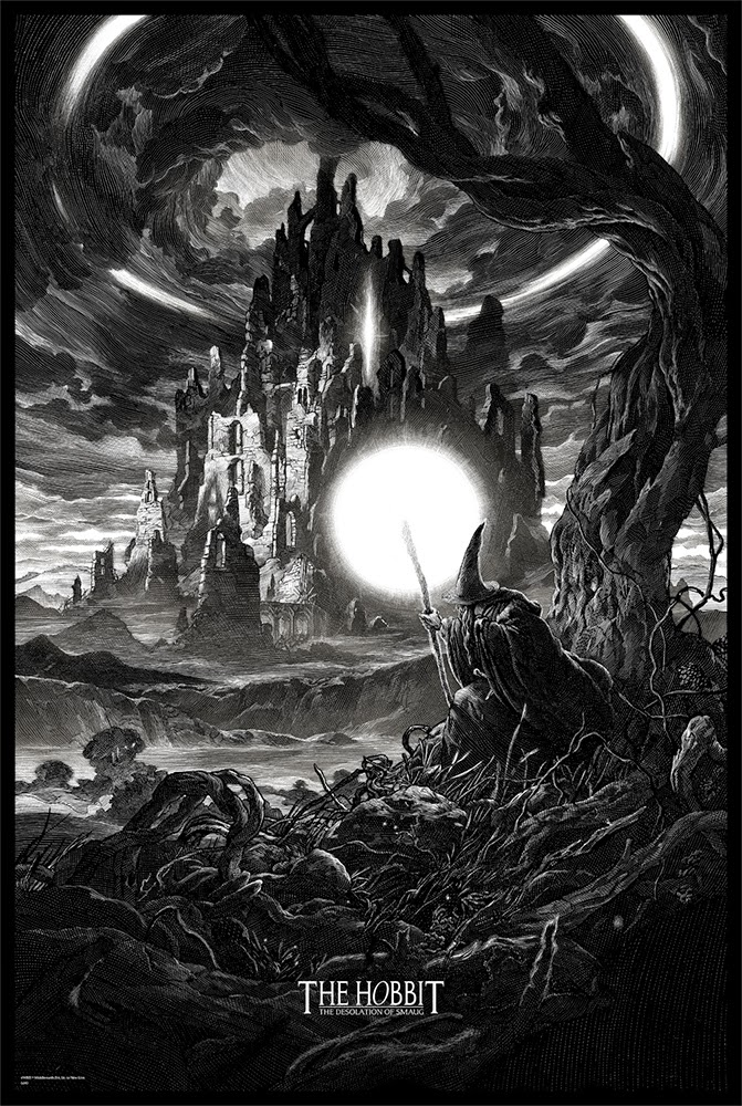 06-The-Hobbit-The-Desolation-of-Smaug-Nico-Delort-Illustrations-with-Scratchboard-Drawings-www-designstack-co