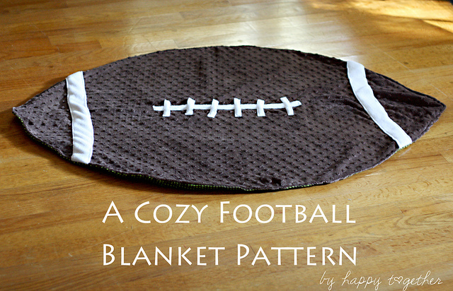 Crochet Pattern For Football Blanket : Be Different...Act Normal: Free Football Blanket Pattern
