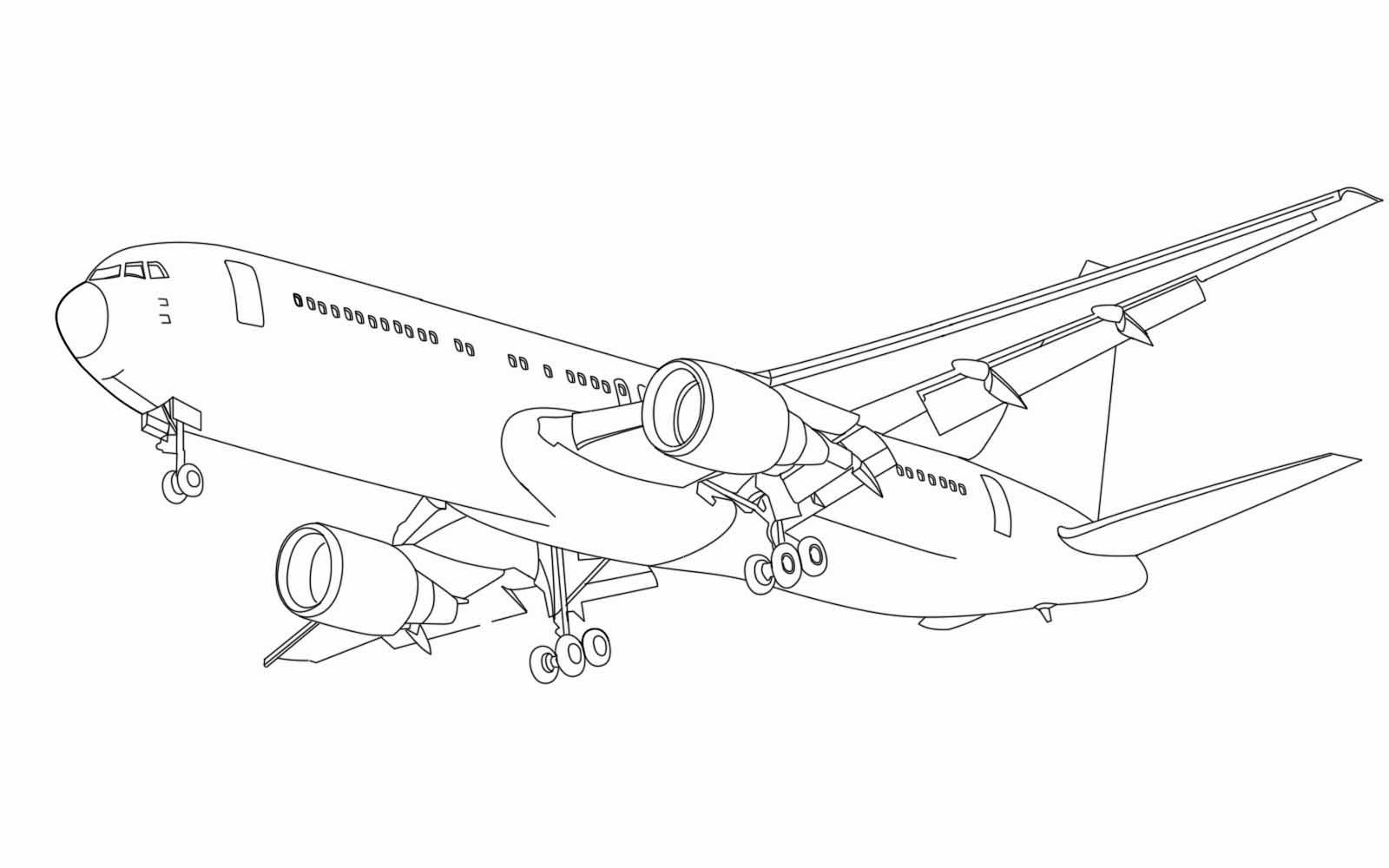 Mewarnai Pesawat Penumpang