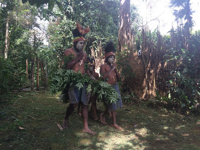 Local boys practicing the Spirit Dance - Mount Hagen
