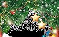 Portaretrato navideño infantil con Santa Claus y sus renos en formato PSD para poner tus fotos favoritas