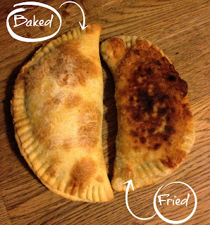 #MeatlessMonday Banana Black Bean Empenadas, baked or fried