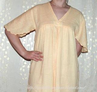 Как я хотела сшить сарафан, а сшила ночную сорочку.
