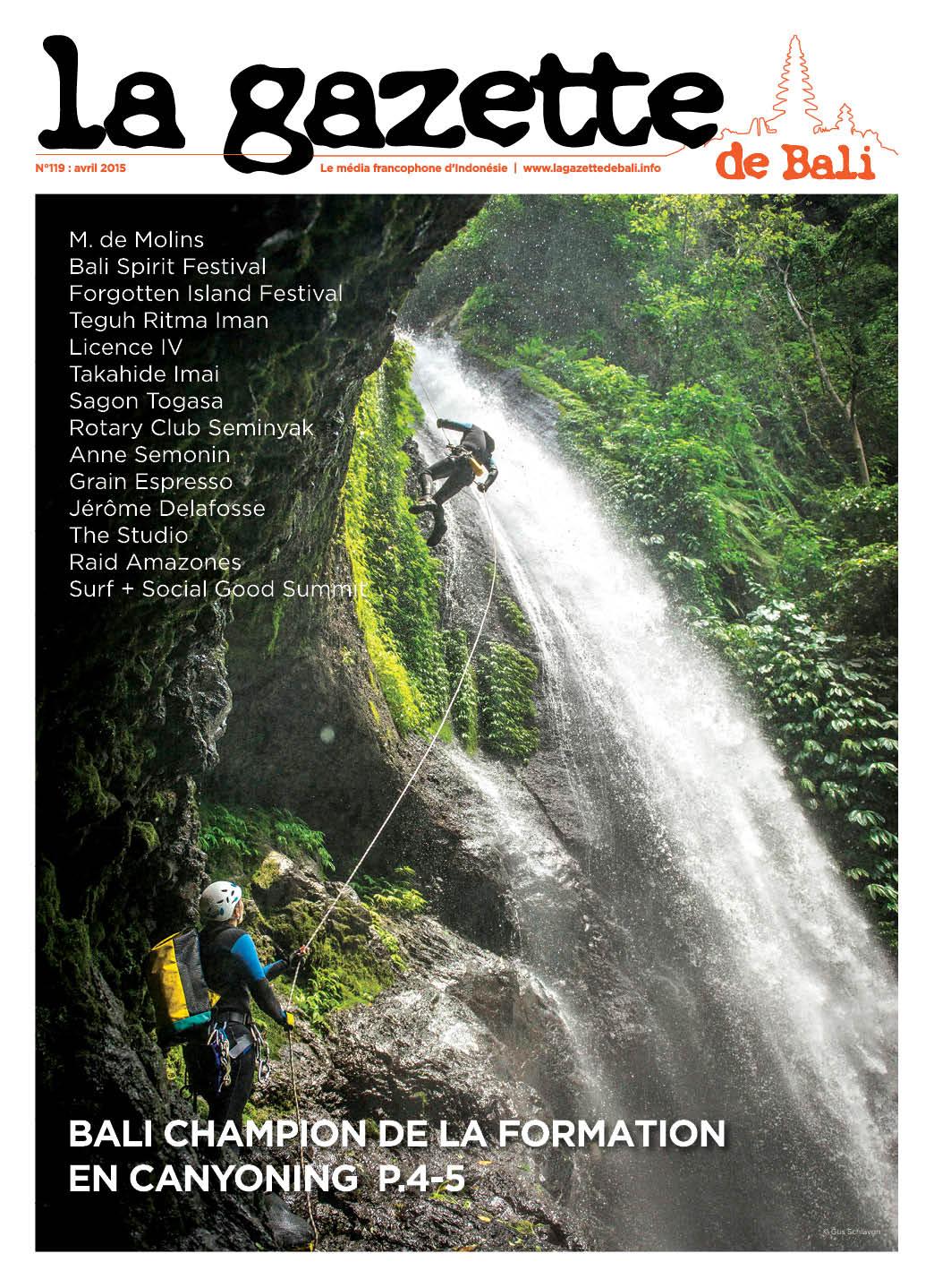 la Gazette de Bali avril 2015