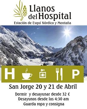 Oferta Llanos del Hospital para este fin de semana de San Jorge