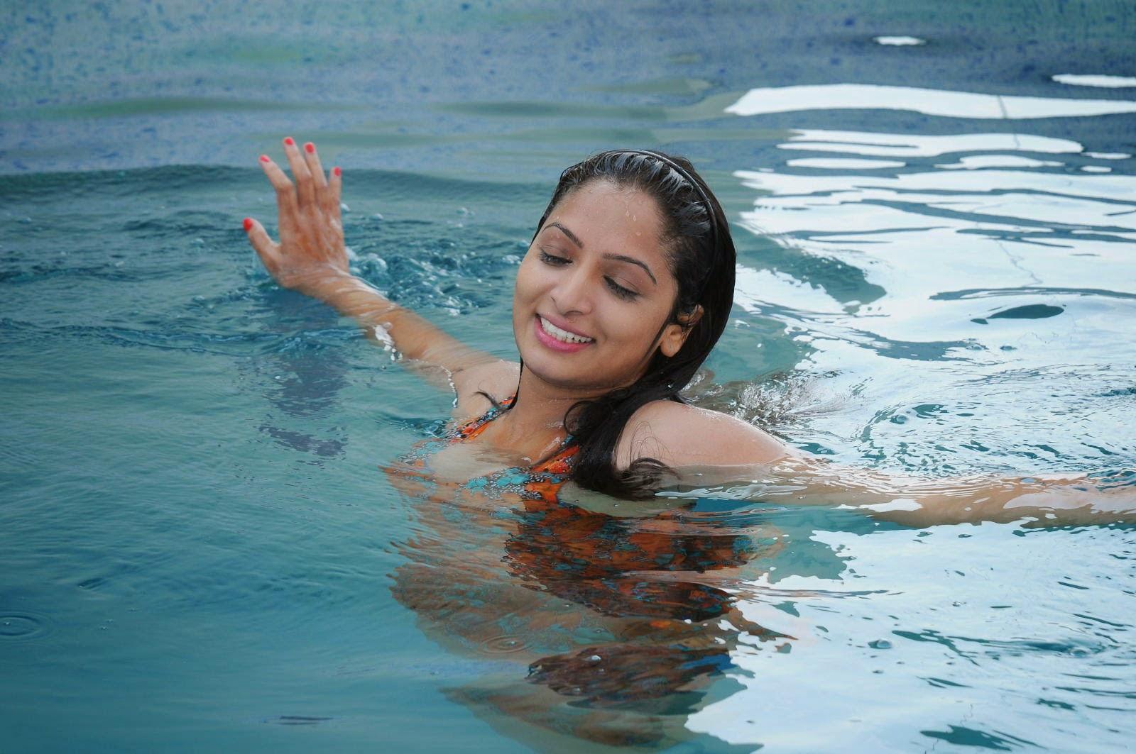 Actress Priya Vashishta Latest Cute Hot Beautiful Spicy Photoshoot Gallery From Swimming Pool