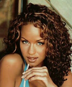 brown curly hair color medium