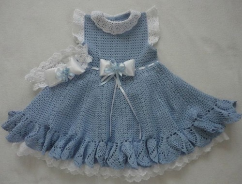 Blue Crochet Dress - Free Diagram