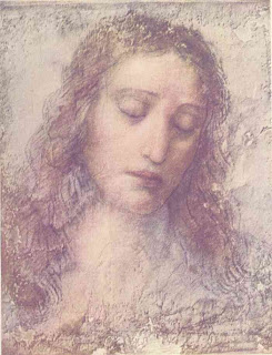 The Head of Christ - Painting of Leonardo da Vinci