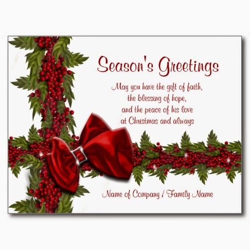 Corporate Christmas Card Sayings