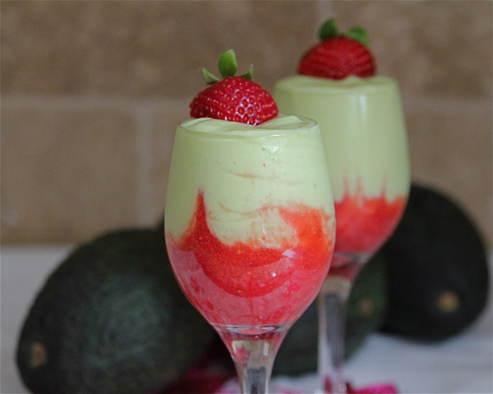 Avocado Strawberry Mousse