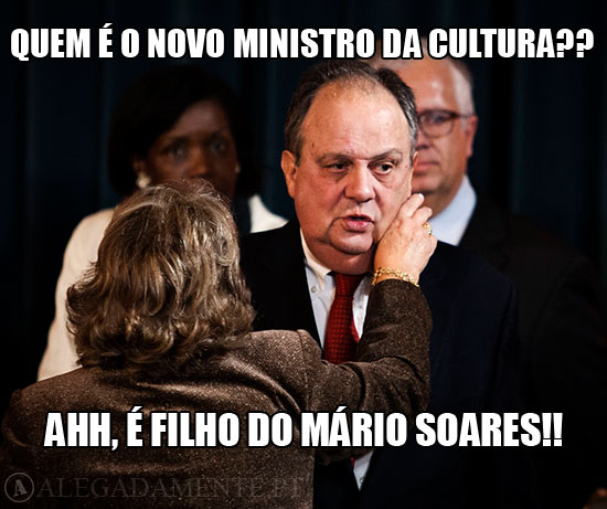 Imagem de João Soares - Quem é o novo ministro da cultura?? Ahh, é filho do Mário Soares!!