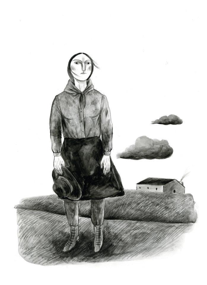 """Susana Monteiro, """"Manuel da Fonseca"""", in Diário do Alentejo. Prémio Stuart de Desenho de Imprensa na categoria de Ilustração, 2011."""