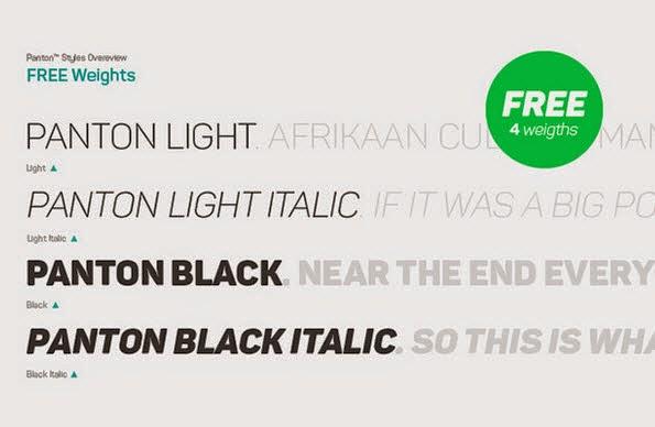 Panton free font