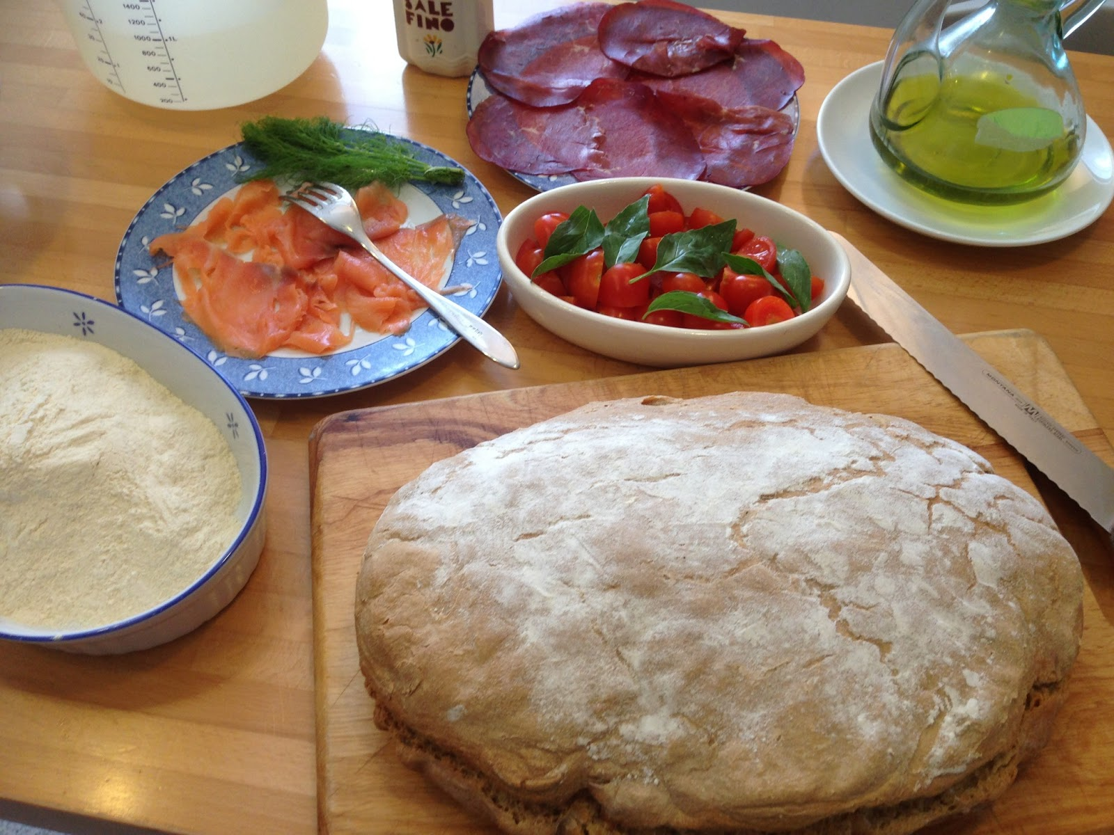 ricetta - pane con farina di grani antichi