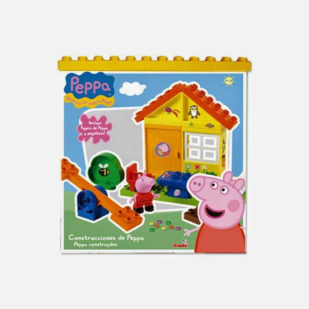 JUGUETES - PEPPA PIG - Cubo de construcción mediano  Producto Oficial | Simba 4365216 | A partir de 3 años