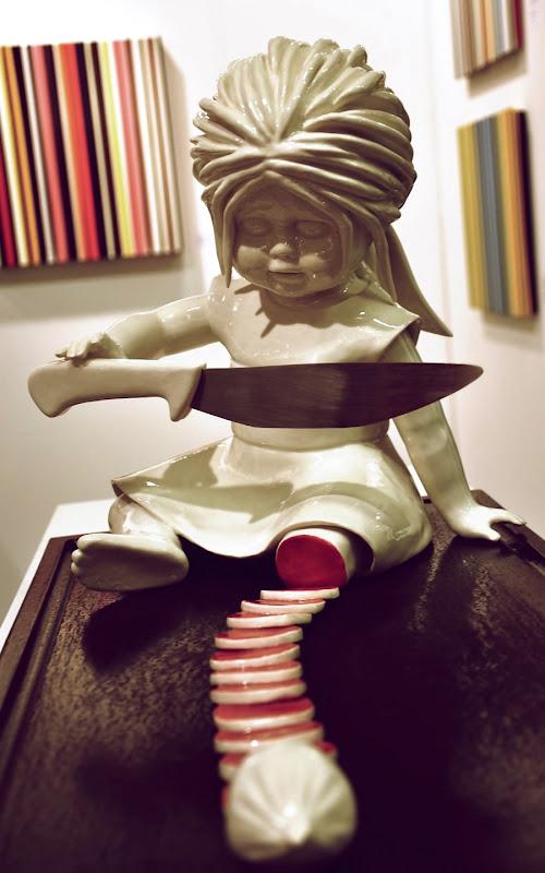Porcelæns-skulptur af Maria Rubinke