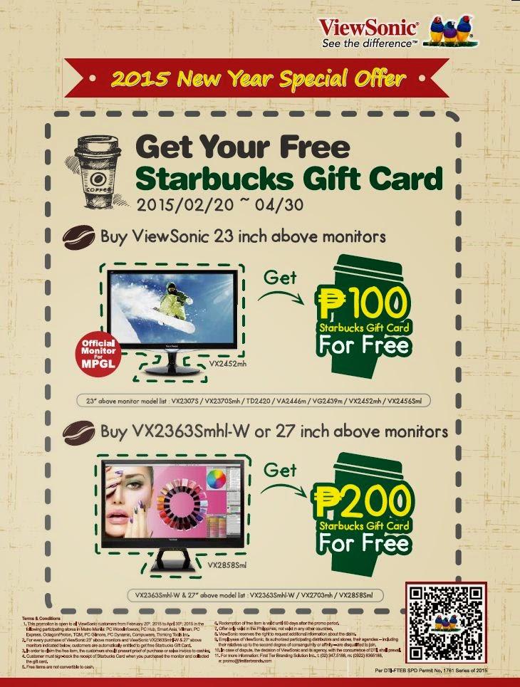 how to buy starbucks gift certificate philippines