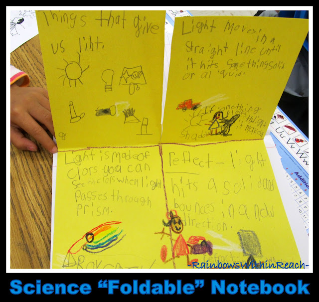 "photo of: Science ""Foldable"" Notebook in First Grade (via RainbowsWithinReach RoundUP of Foldables)"