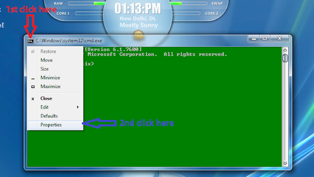 how to change the coulor of command prompt