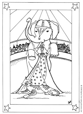 Circus Elephant Coloring Pages