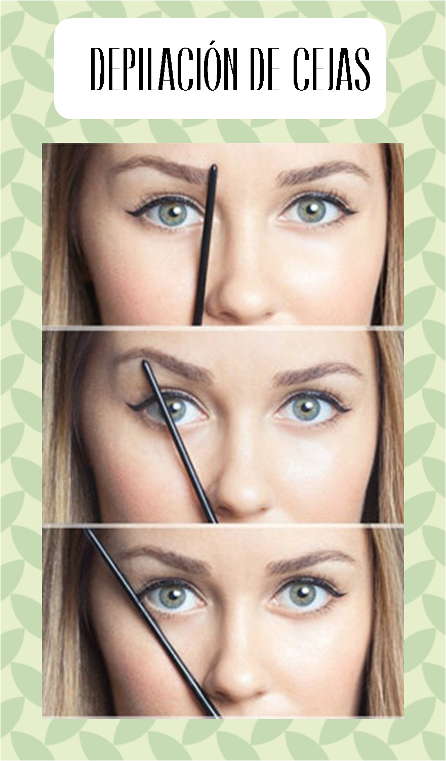 tutorial depilación de cejas