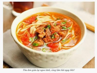 Món mỳ thịt bò hầm ấm bụng cho ngày rét
