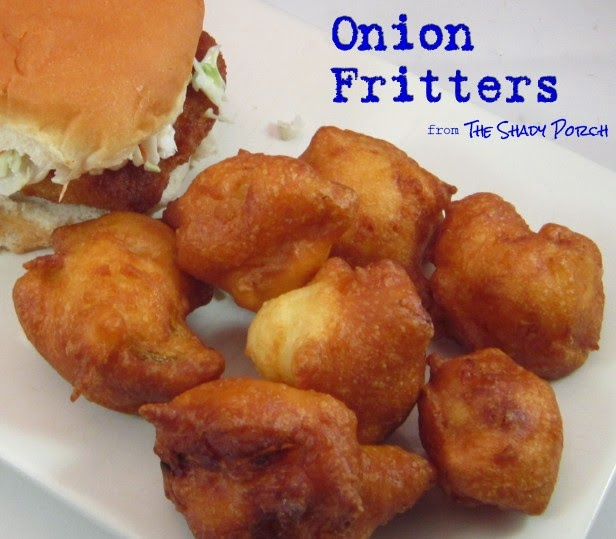 a serving of Onion Fritters