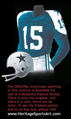 Dallas Cowboys 1960 uniform
