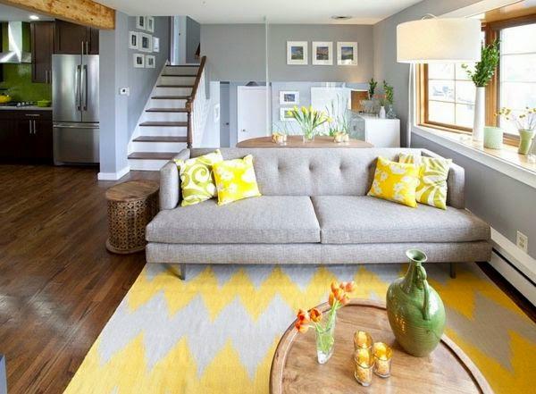 Decoracion En Gris Y Amarillo ~ Salas en color amarillo y gris  Colores en Casa