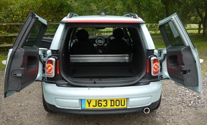 Mini Clubvan rear doors open
