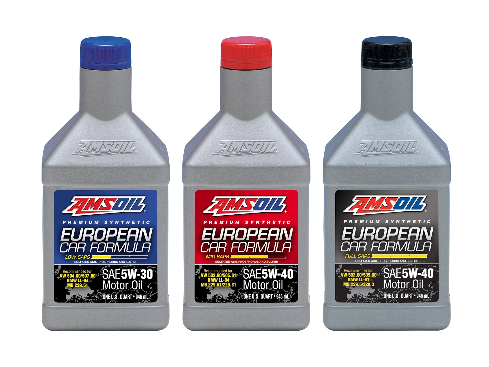New 5w 40 Full Saps Synthetic Motor Oil Completes European