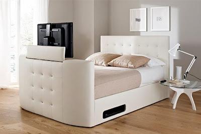 diseño de cama con tv