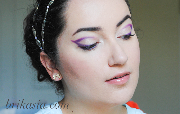 lupus awareness month, purple makeup, purple eyeliner look tutorial