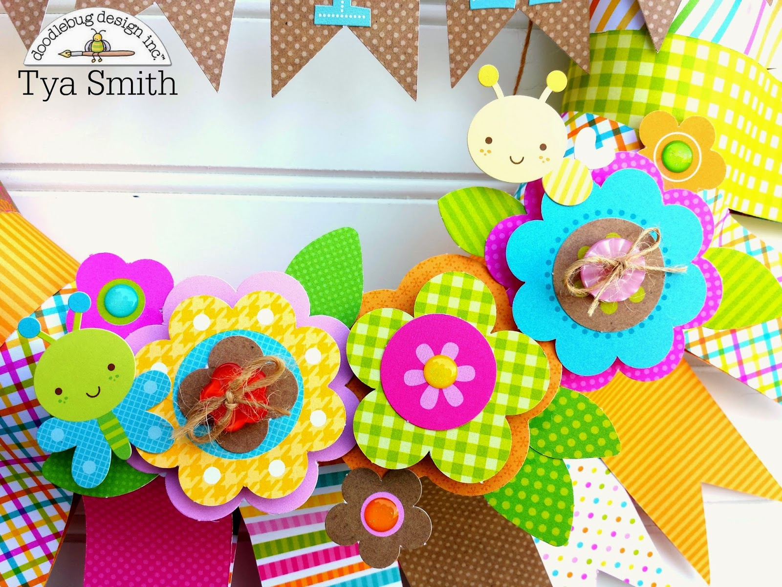 doodlebug design inc blog inspired by challenge banner wreath by tya
