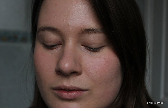 One Little Vice Beauty Blog: ESPA Naturally Radiant Tinted Moisturiser Nude 01 On Face