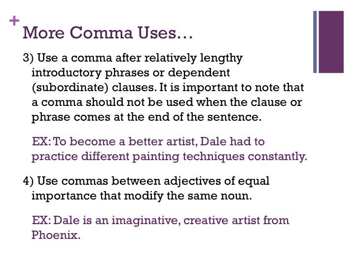 Semicolon Vs The Comma