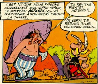 Primera viñeta de Astérix en 1959