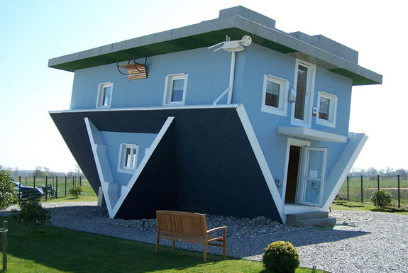 bad architecture - house upside down - you are not an architect