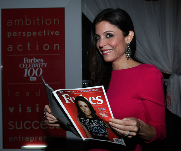 bethenny frankel forbes cover. Bethenny kicked off the week