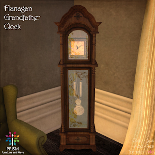 Grandfather Clock with Shelves