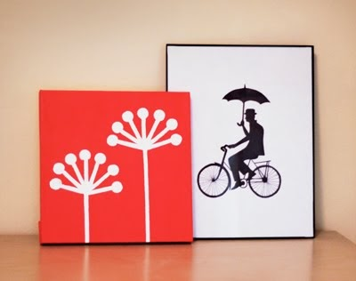 Make DIY wall art with office supplies