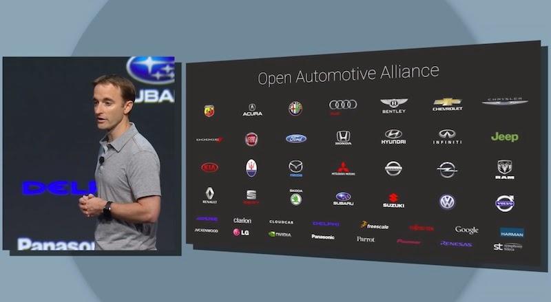 「Android Auto」に対応する予定の自動車ブランド