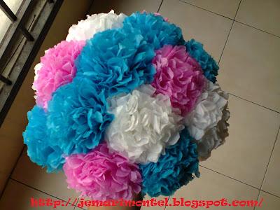 putih, pink, biru