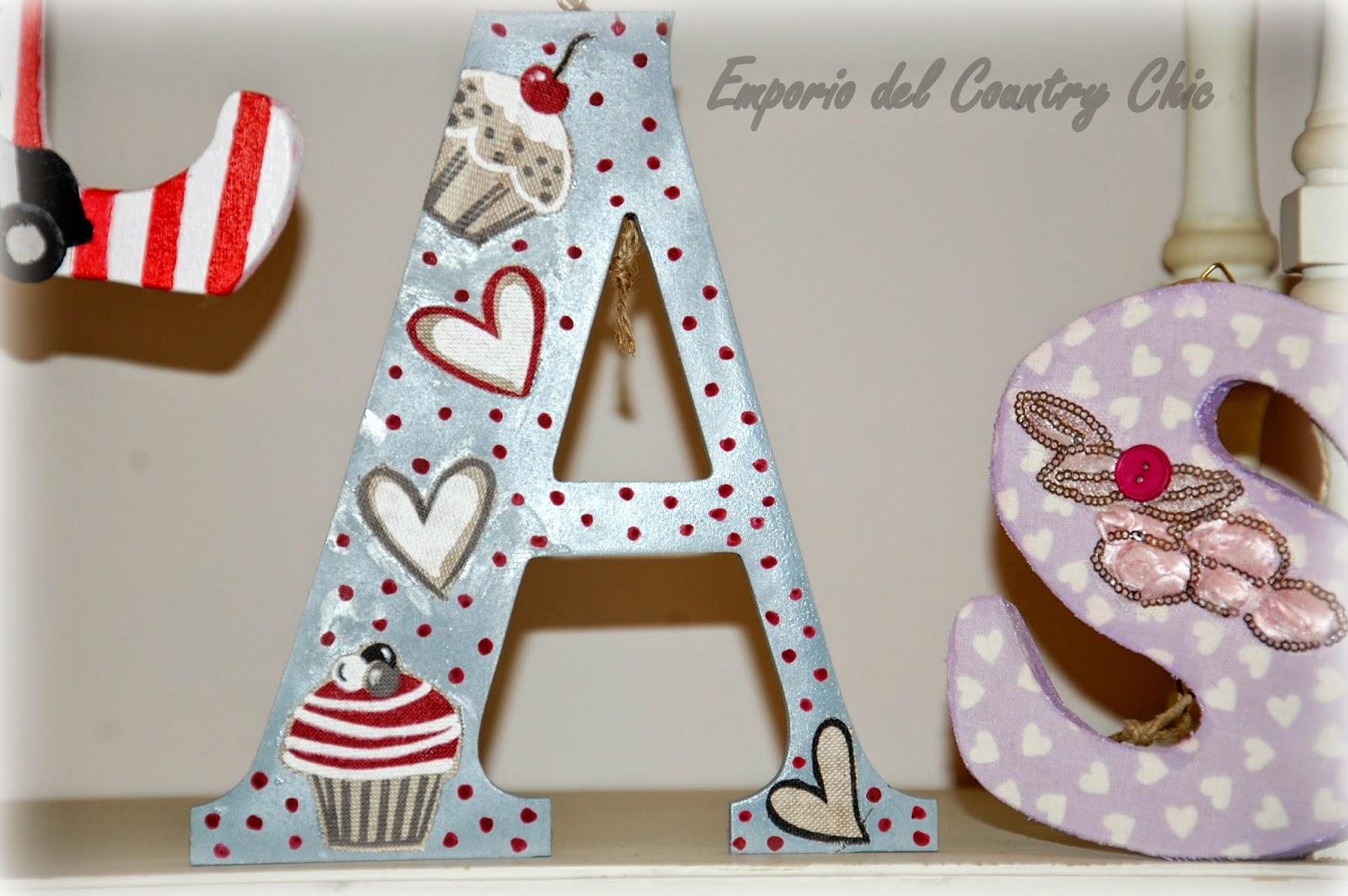 Lettere Di Legno Colorate : Piccolo angolo country lettere e nomi in legno decorati wooden