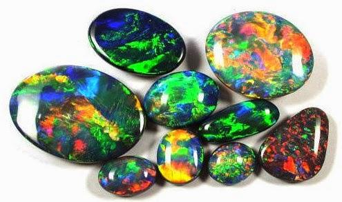Warna-warni keindahan batu akik black opal kalimaya