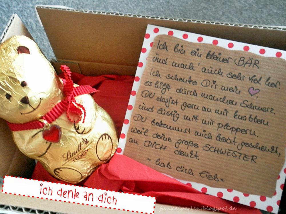ich denk an dich-Paket // Care-Paket für Lieblingsmenschen // funkelperlen.blogspot.de