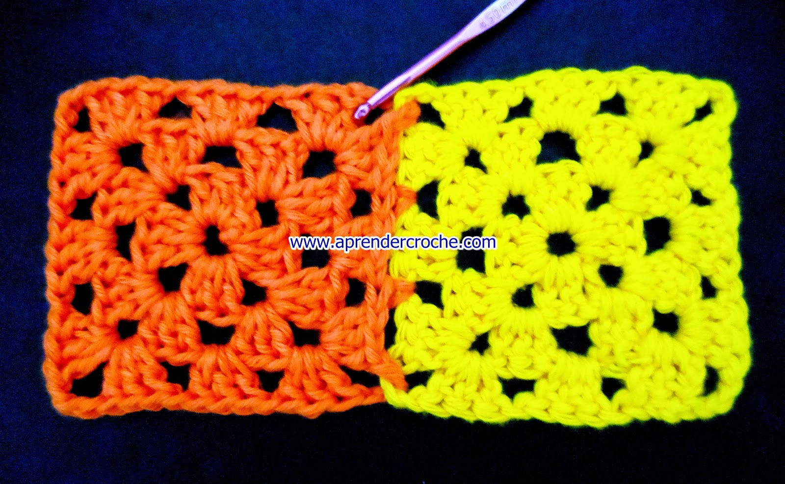 aprender croche square quadrado perfeito cenoura amarelo emenda perfeita edinir-croche loja frete gratis youtube facebook