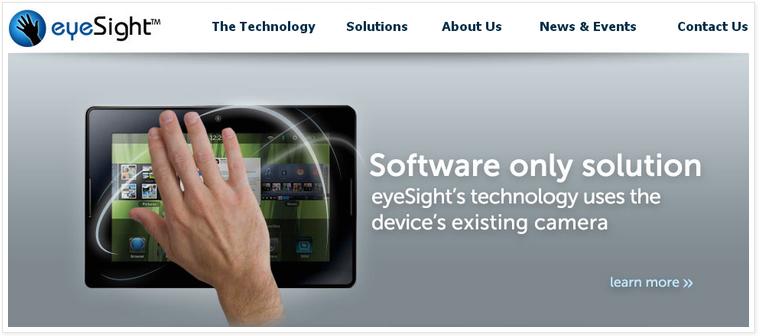 eyeSight Gesture Recognition software