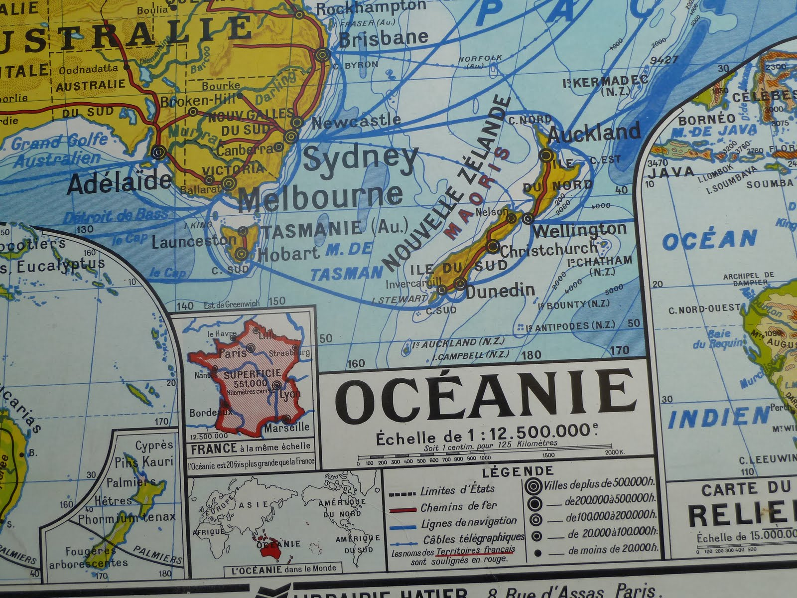 Vintage french posters botany animals anatomy old world maps from french map oceania sea australia japan asia gumiabroncs Gallery